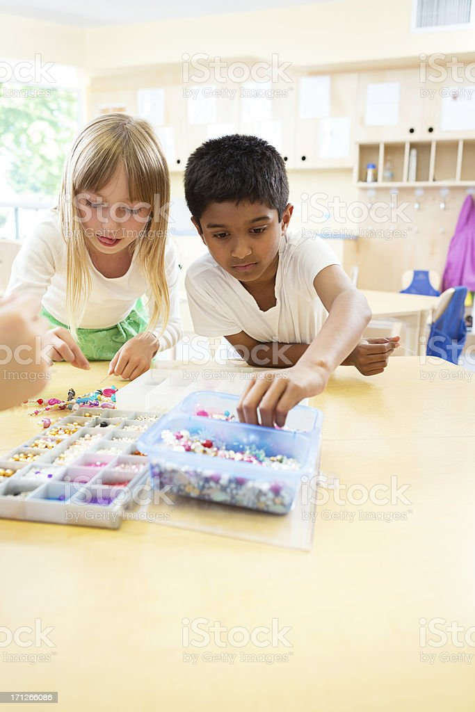 Children in art class stock photo