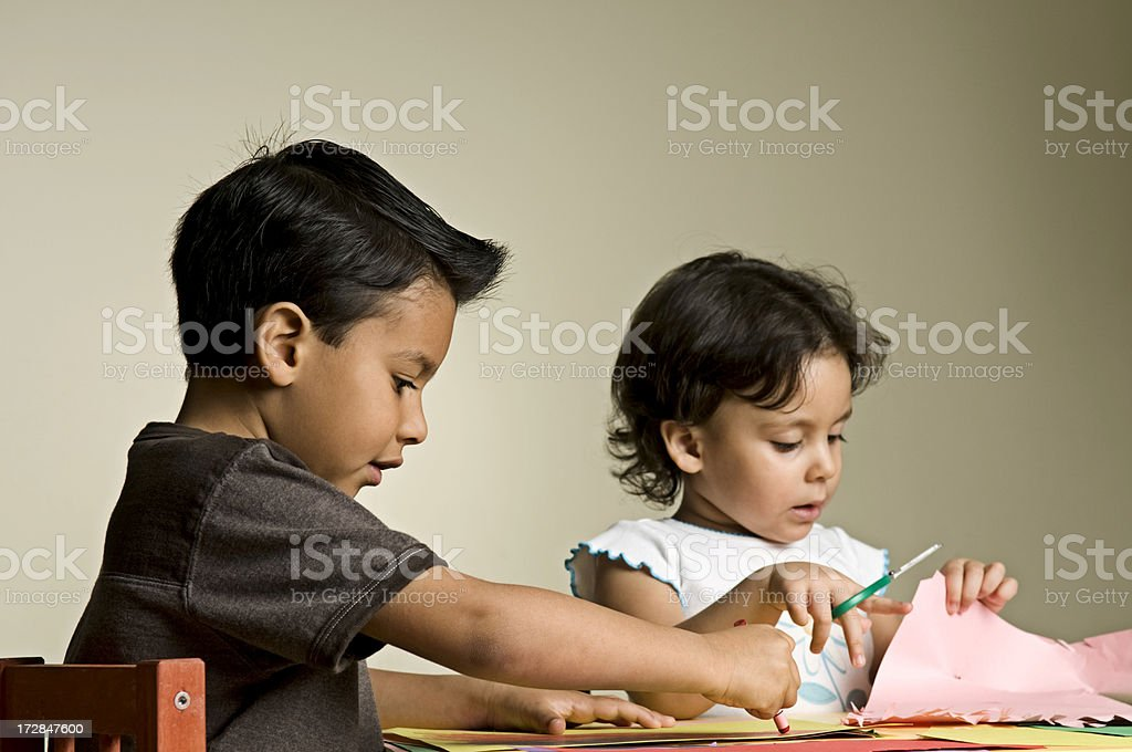 children in class royalty-free stock photo