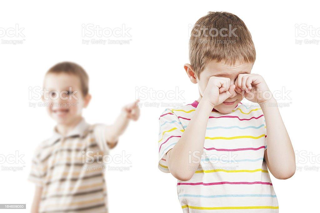 Children in conflict quarrel royalty-free stock photo