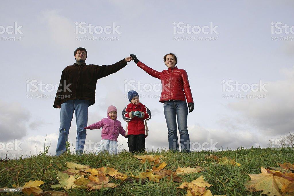 children in family house. autumn royalty-free stock photo