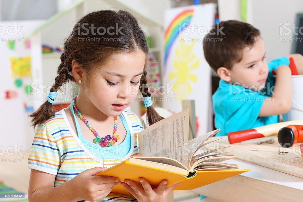 Children in Kindergarden royalty-free stock photo
