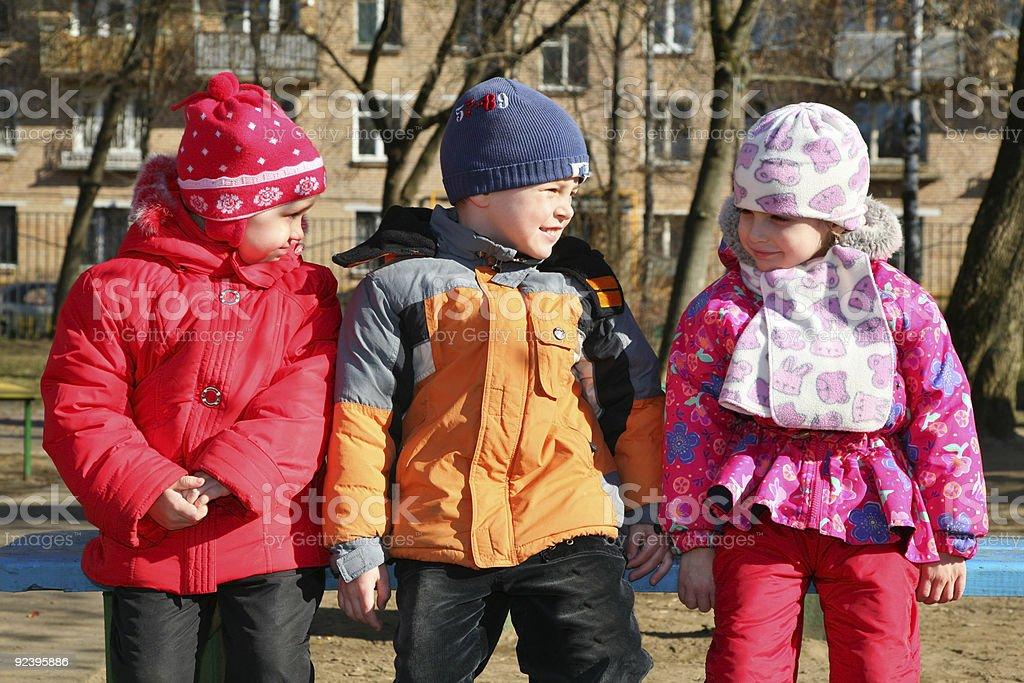 children in kindergarten stock photo