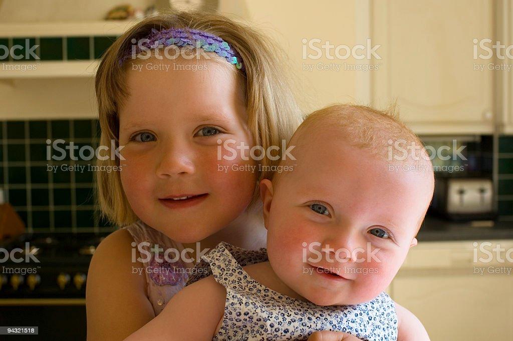 Children in kitchen stock photo