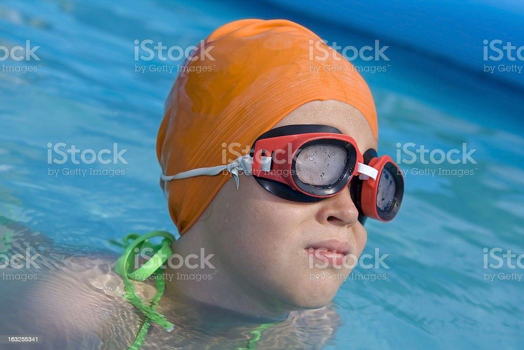 Children in paddling pool royalty-free stock photo