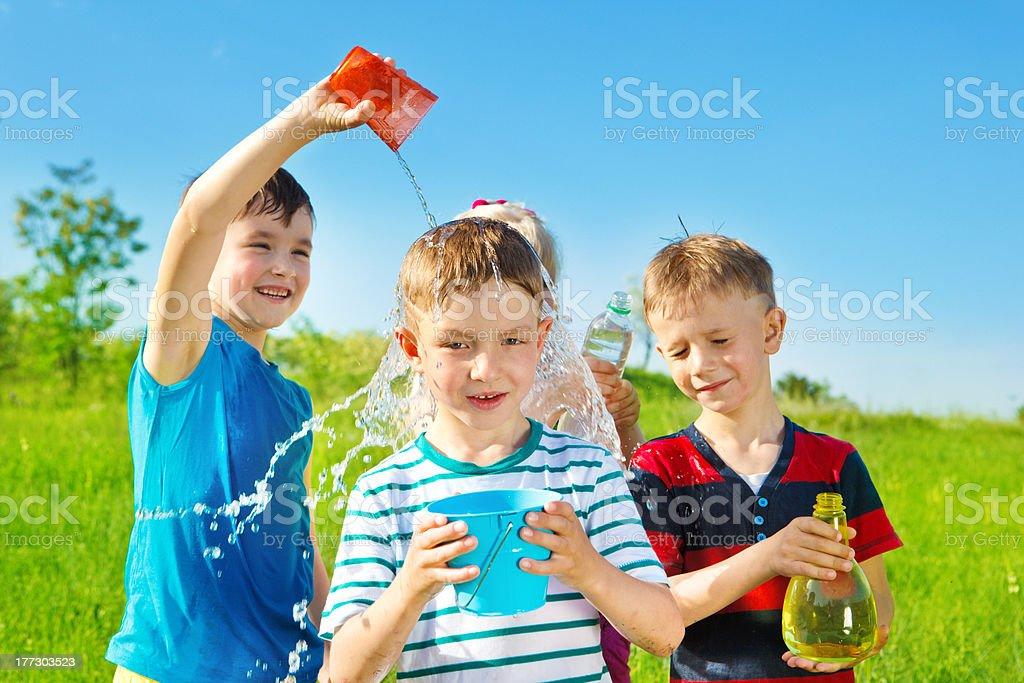 Children in  summer park royalty-free stock photo