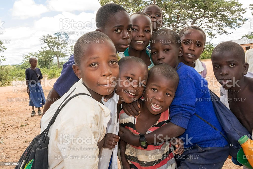 Children in Tanzania stock photo