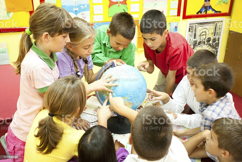 Children In The Classroom royalty-free stock photo