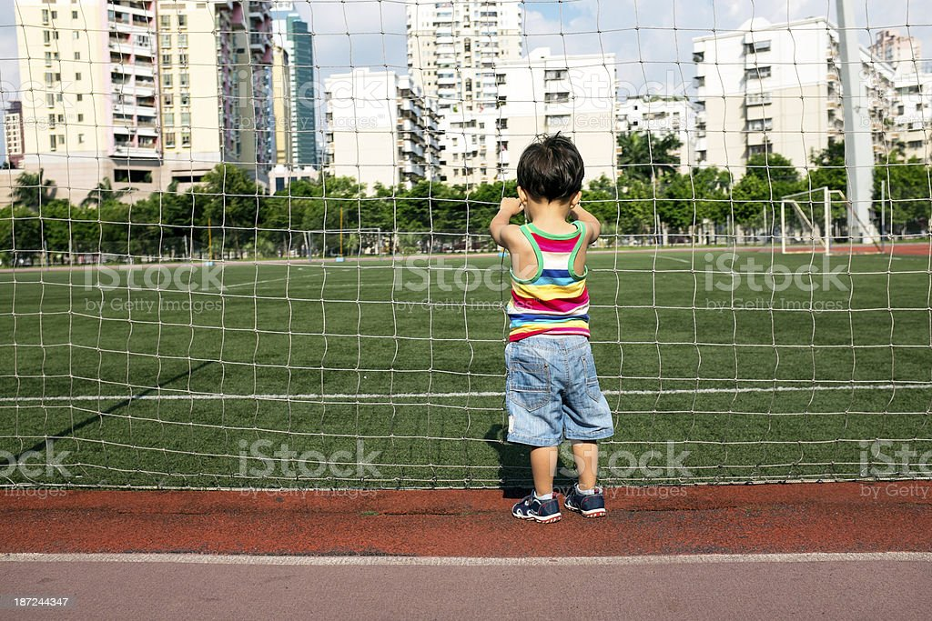children in the stadium royalty-free stock photo