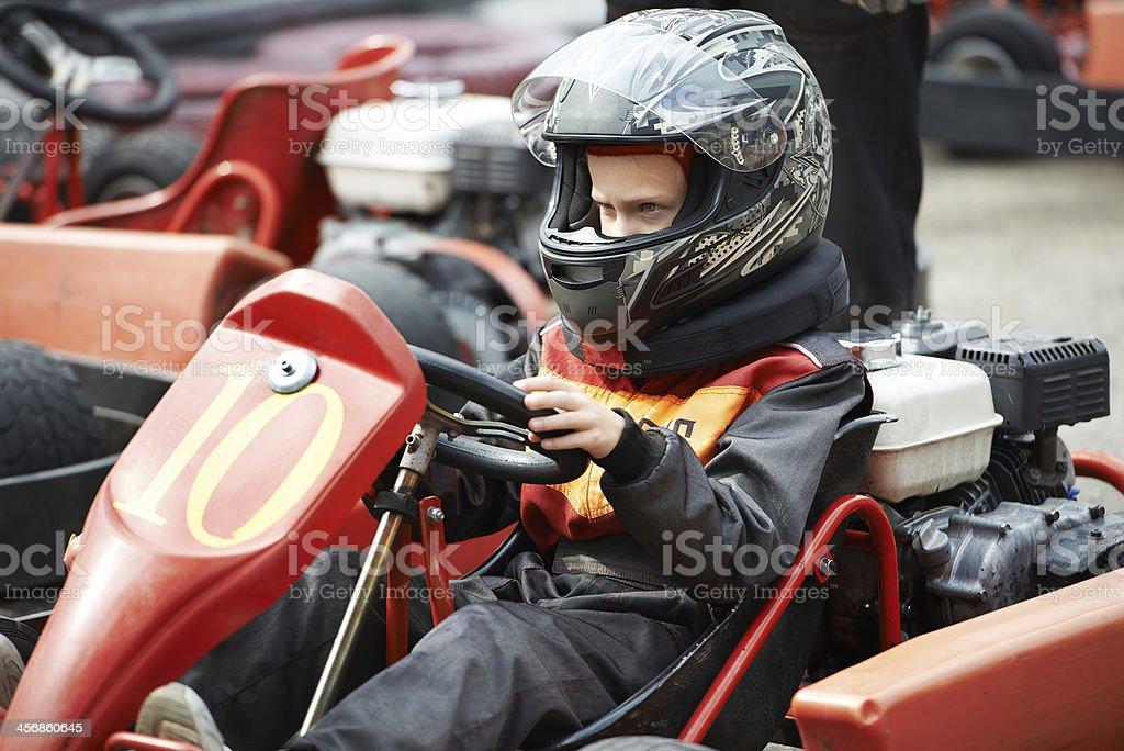 Children karting stock photo