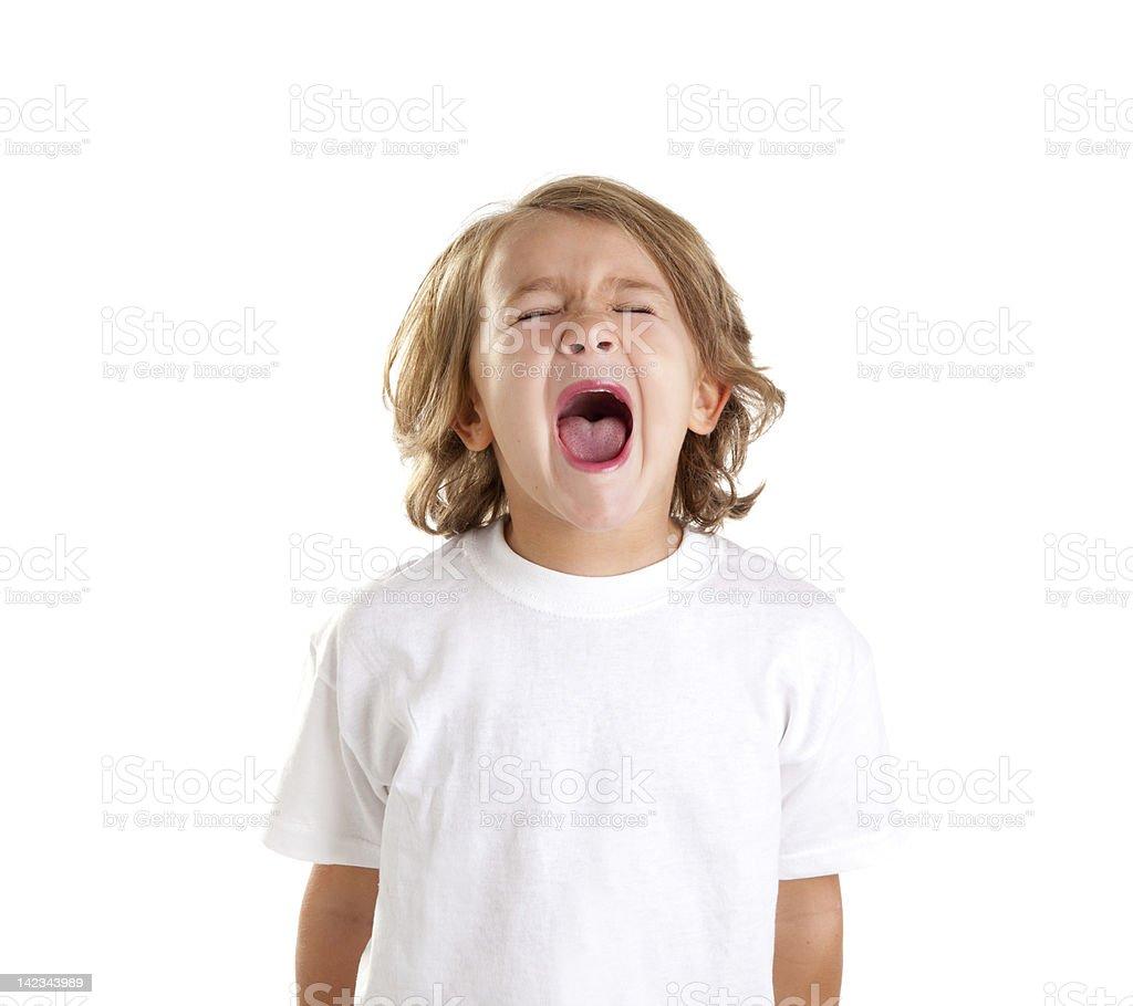 children kid screaming expression on white royalty-free stock photo