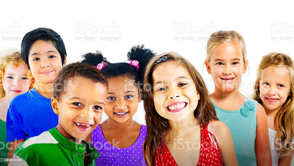 Children Kids Diversity Friendship Happiness Cheerful Concept stock photo