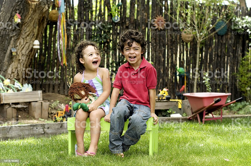Children Laughing royalty-free stock photo