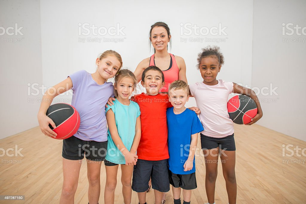 Children Learning Sports Games stock photo