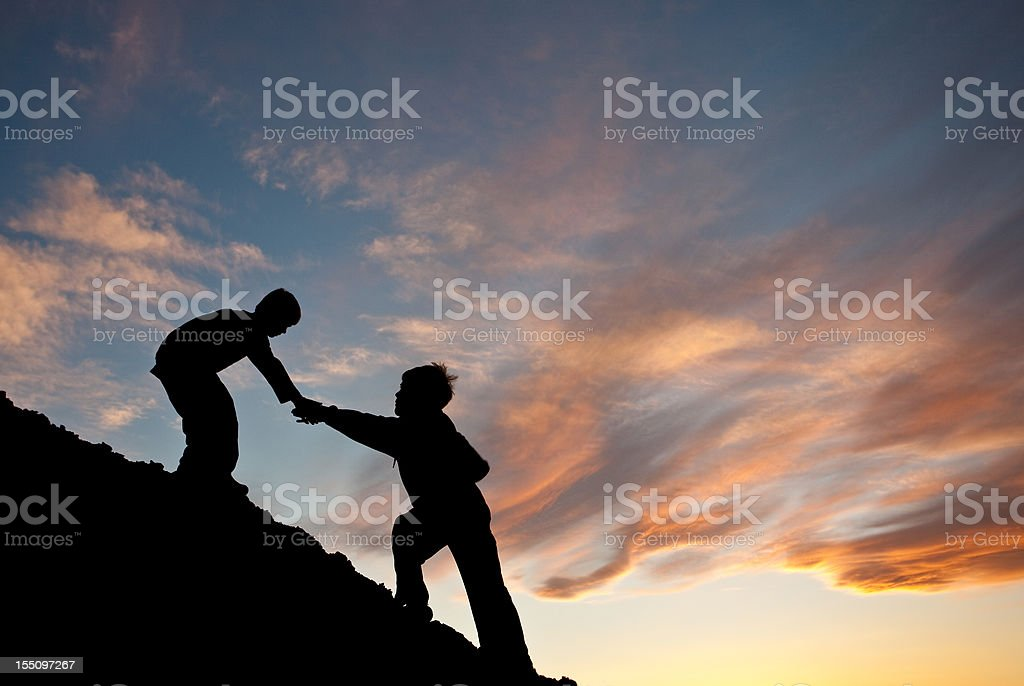 Children Lending A Helping Hand royalty-free stock photo