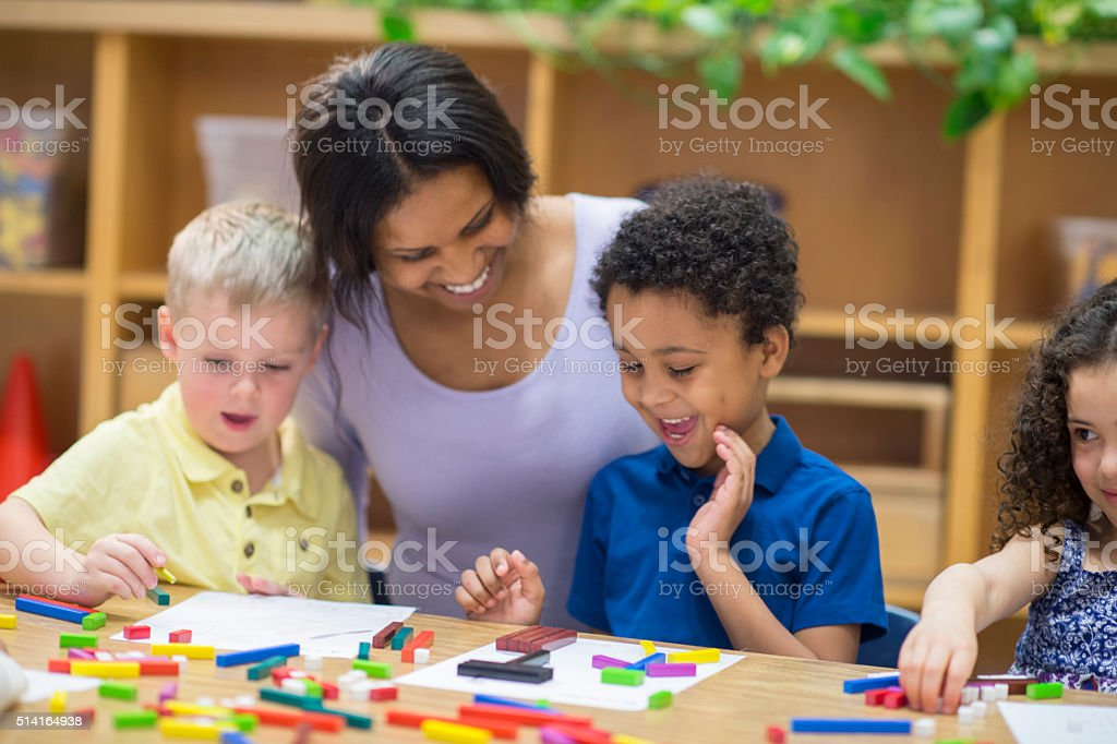 Children Making Pictures stock photo