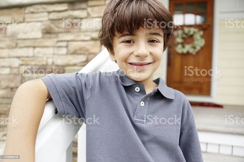 Children need a safe and loving enviroment to thrive royalty-free stock photo