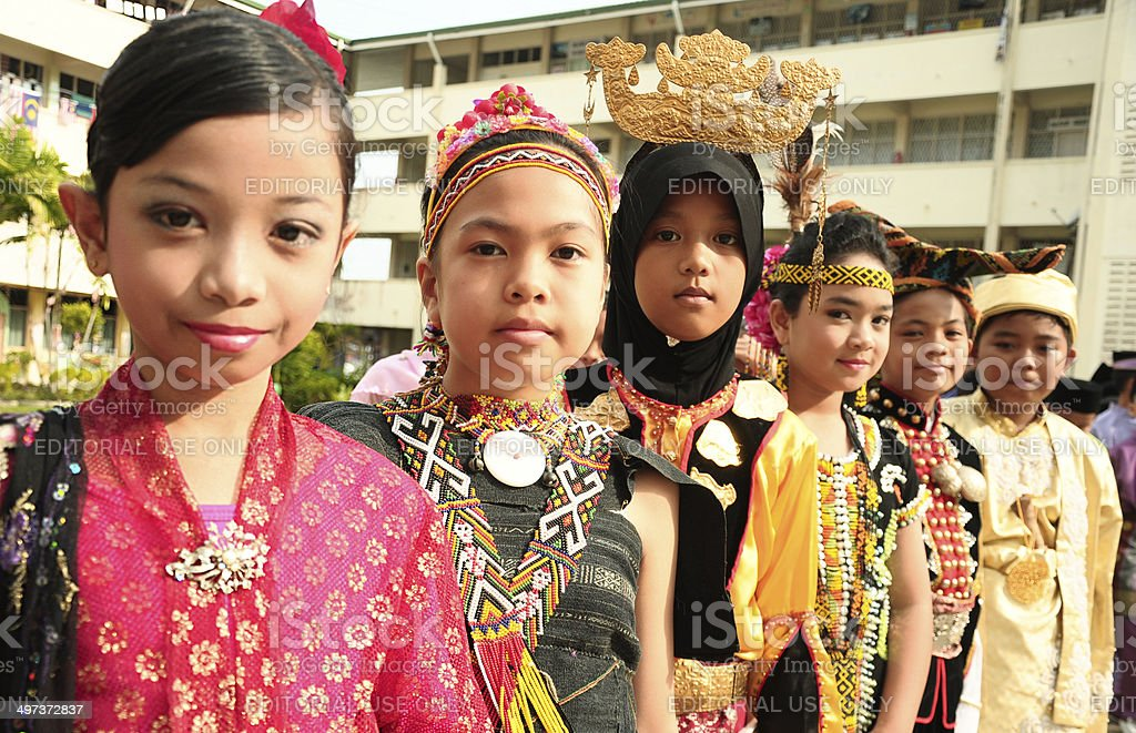 Children of Malaysia stock photo