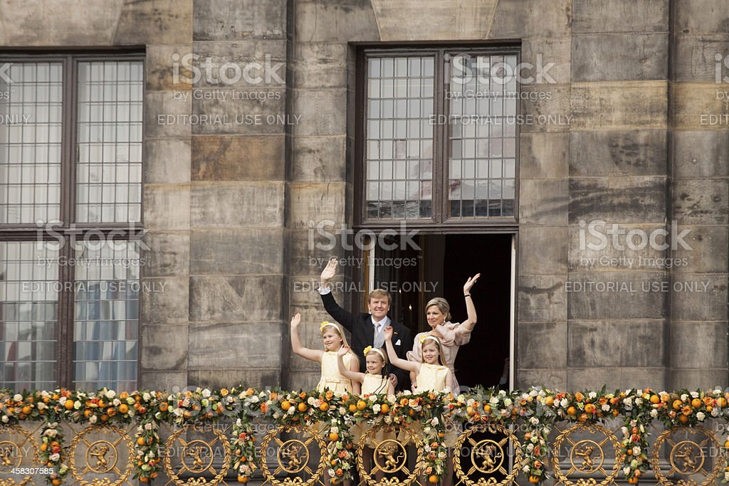 Children of the new king. stock photo