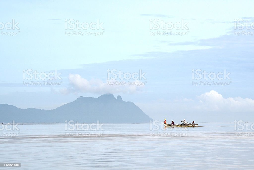 Children On A Boat royalty-free stock photo
