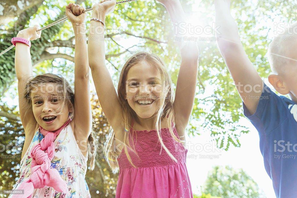 Children on Playground Having Fun stock photo