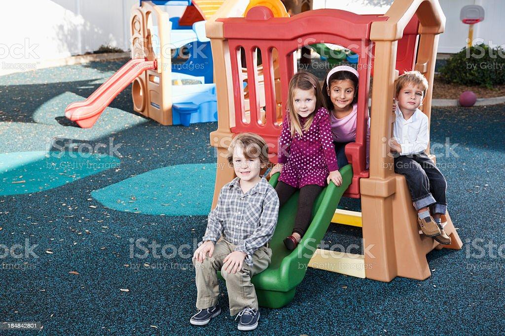 Children on playground royalty-free stock photo