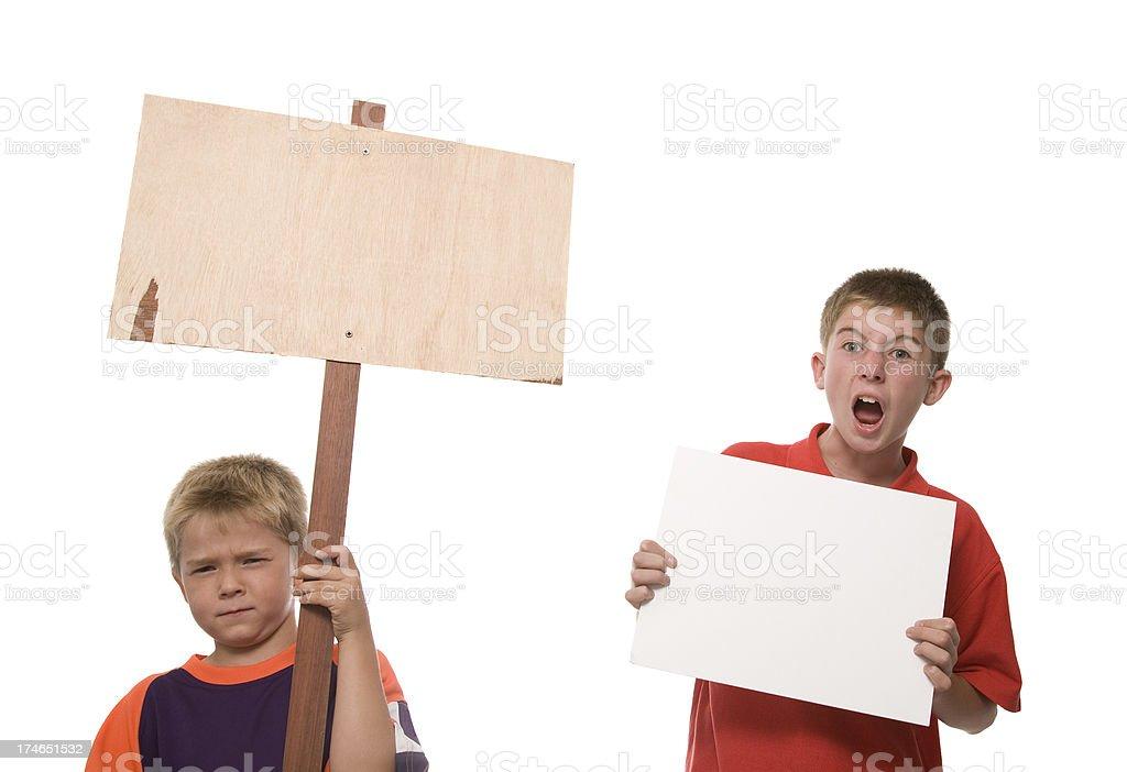 Children on Strike royalty-free stock photo