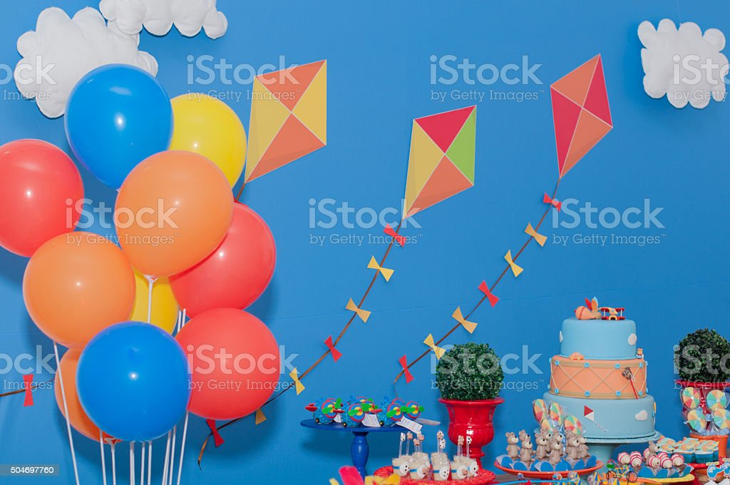 children Party decoration stock photo