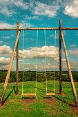Children Playground - Swings - What a wonderful world