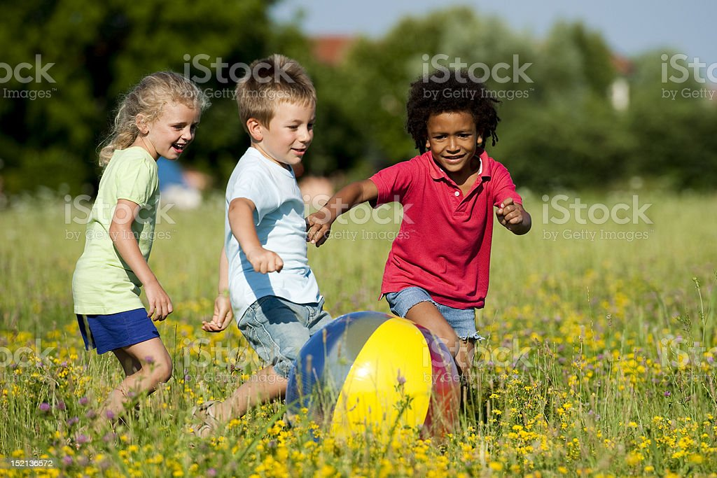 Children Playing Ball stock photo