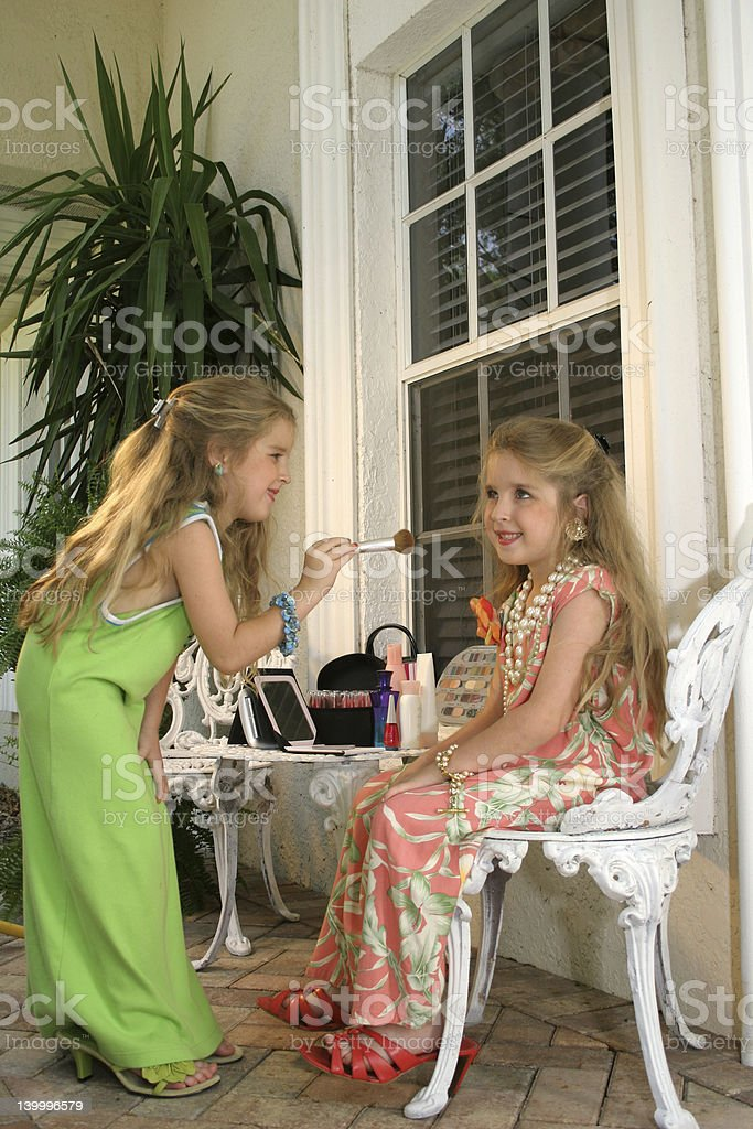 Children playing dress up royalty-free stock photo