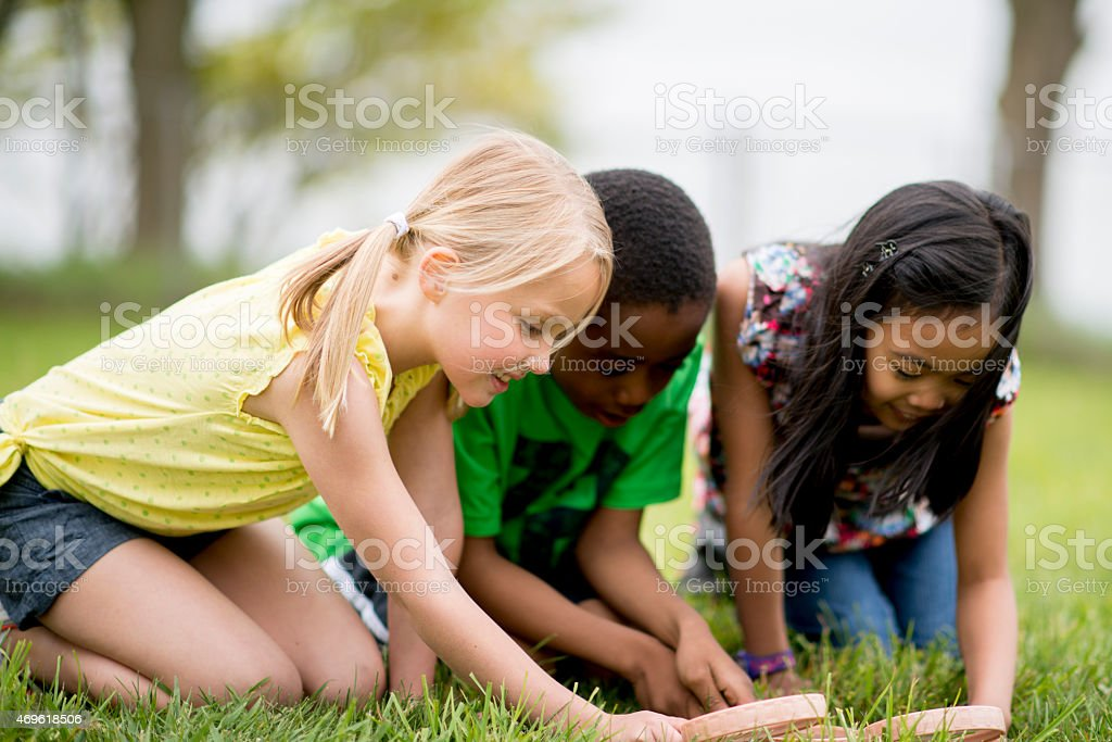 Children Playing Outside stock photo