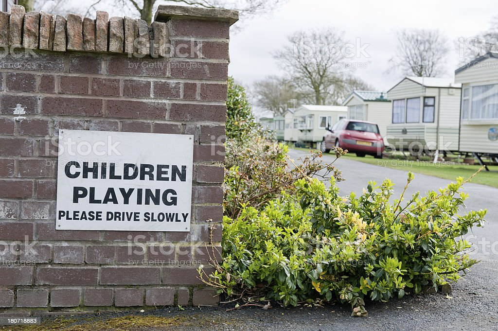 Children Playing Sign royalty-free stock photo