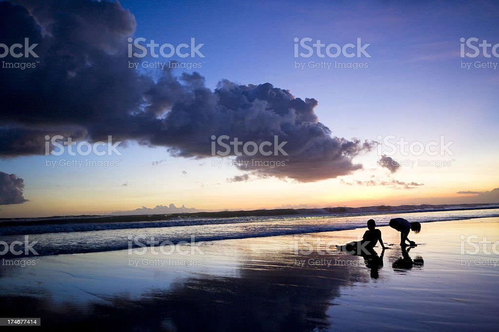 Children Playing Silhouette royalty-free stock photo