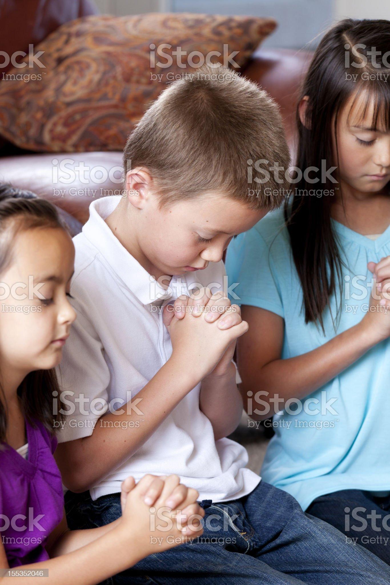 Children Praying royalty-free stock photo