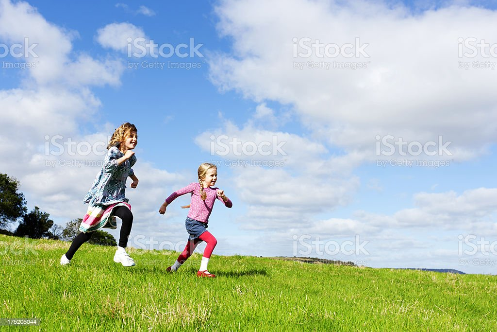 Children racing stock photo