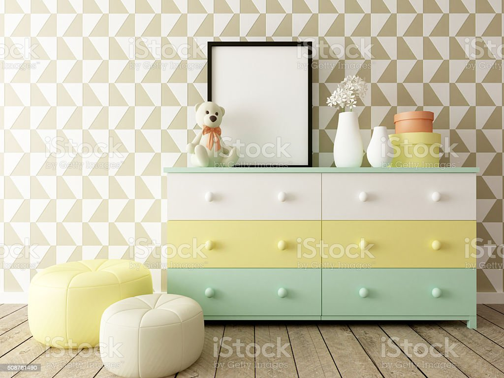 children room interior stock photo