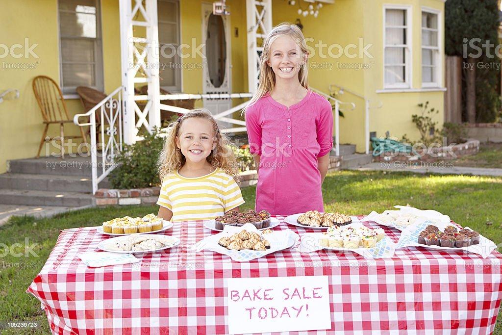 Children Running Charity Bake Sale stock photo
