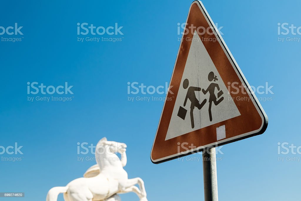 Children safety Sign stock photo