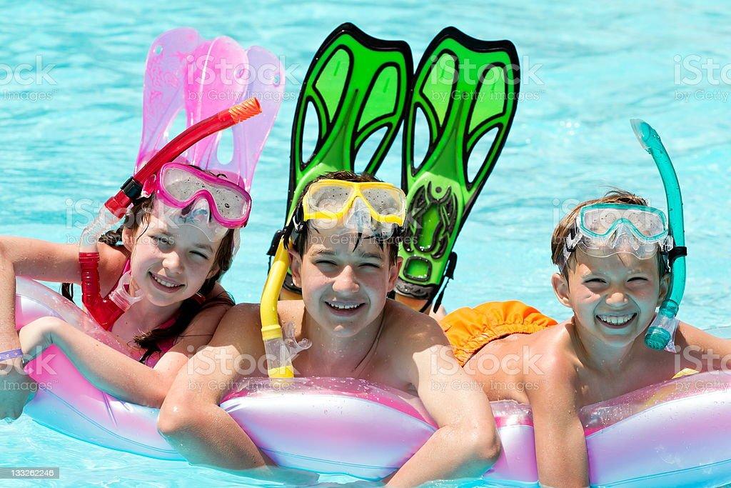 Children scuba diving royalty-free stock photo