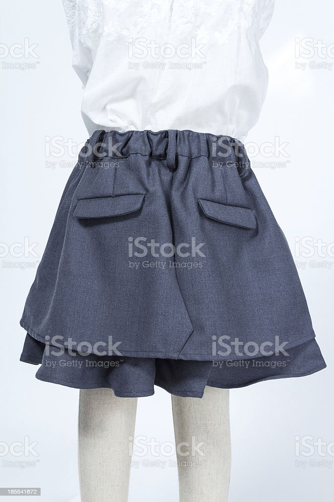 Children skirt on a mannequin royalty-free stock photo