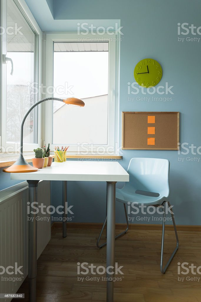 Children study room stock photo