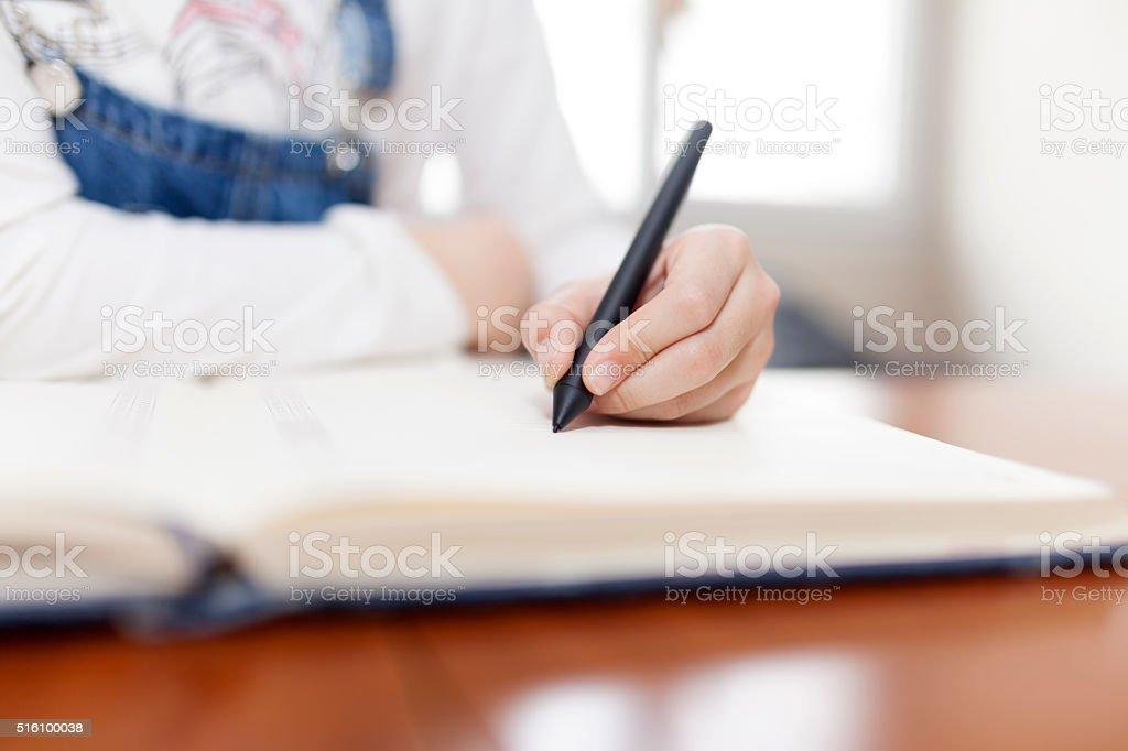 Children Studying stock photo