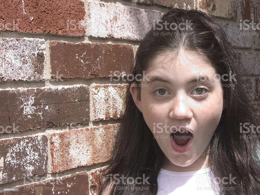 Children: Surprised Happy stock photo