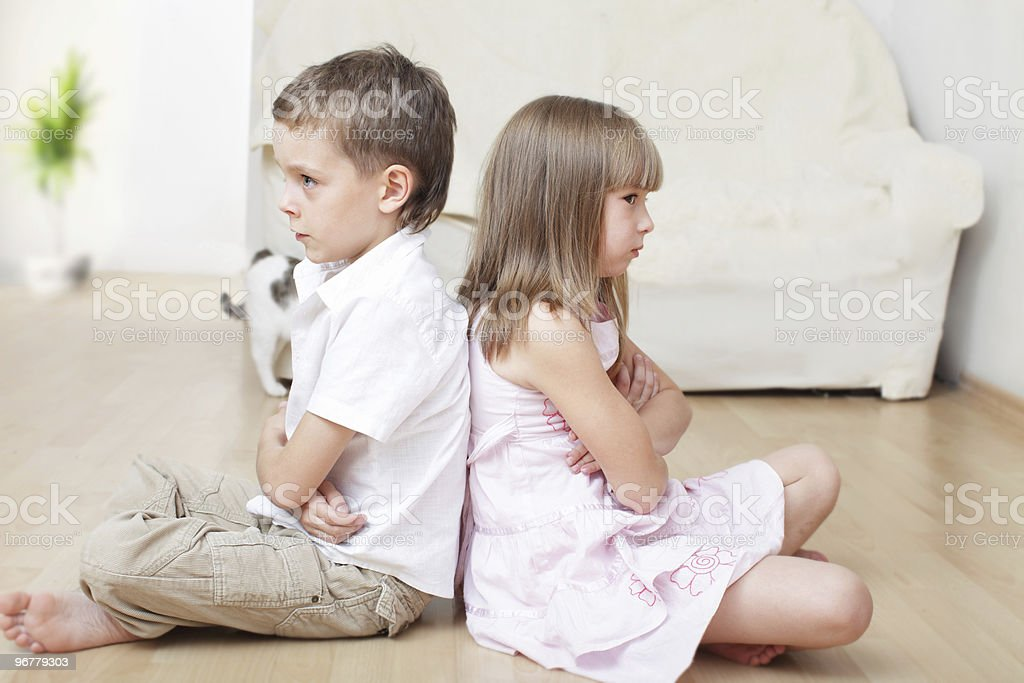 Children swear royalty-free stock photo