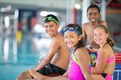 Children Taking a Swim Class