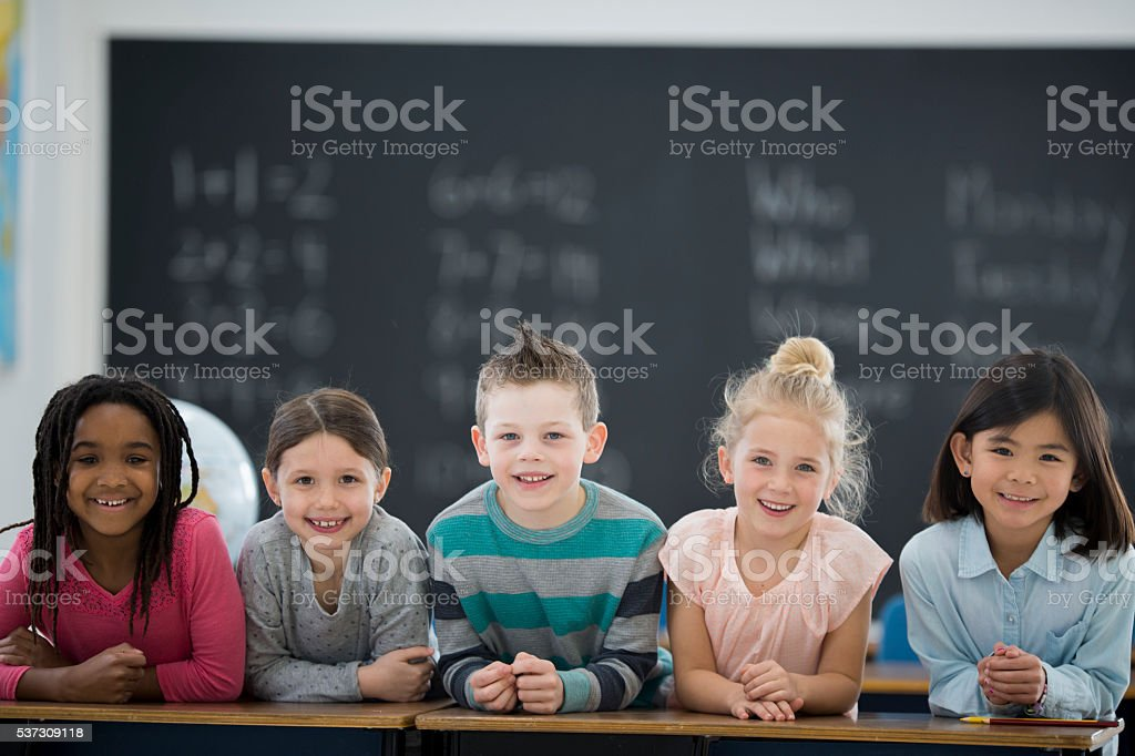 Children Together in Class stock photo