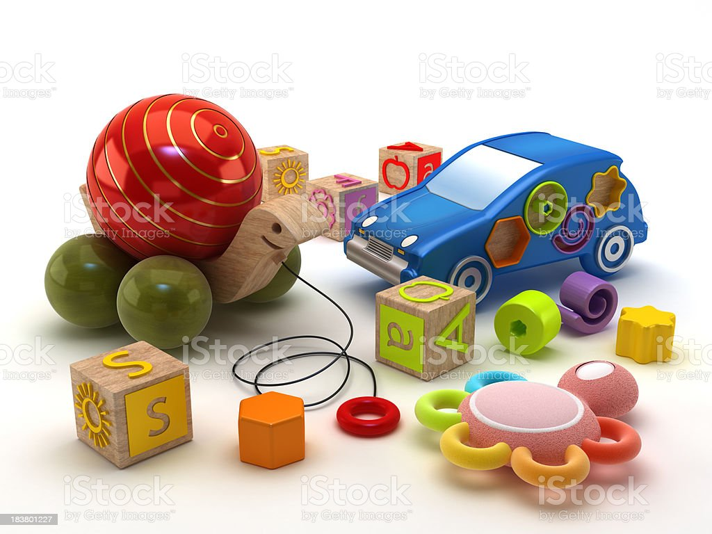 Children toys stock photo