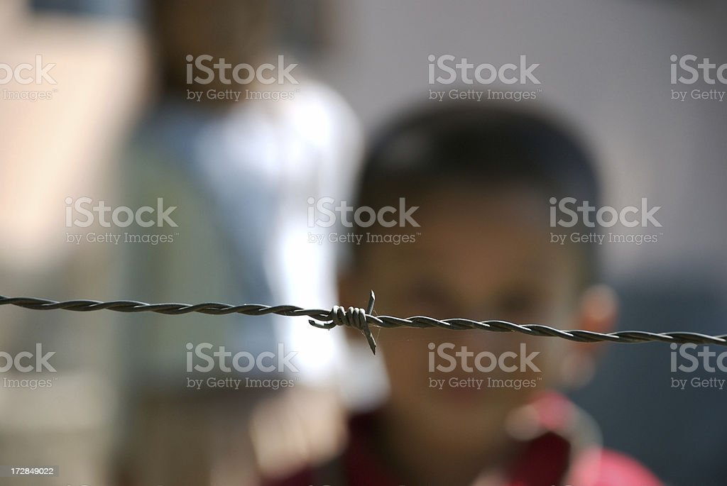 Children Trapped In Poverty royalty-free stock photo