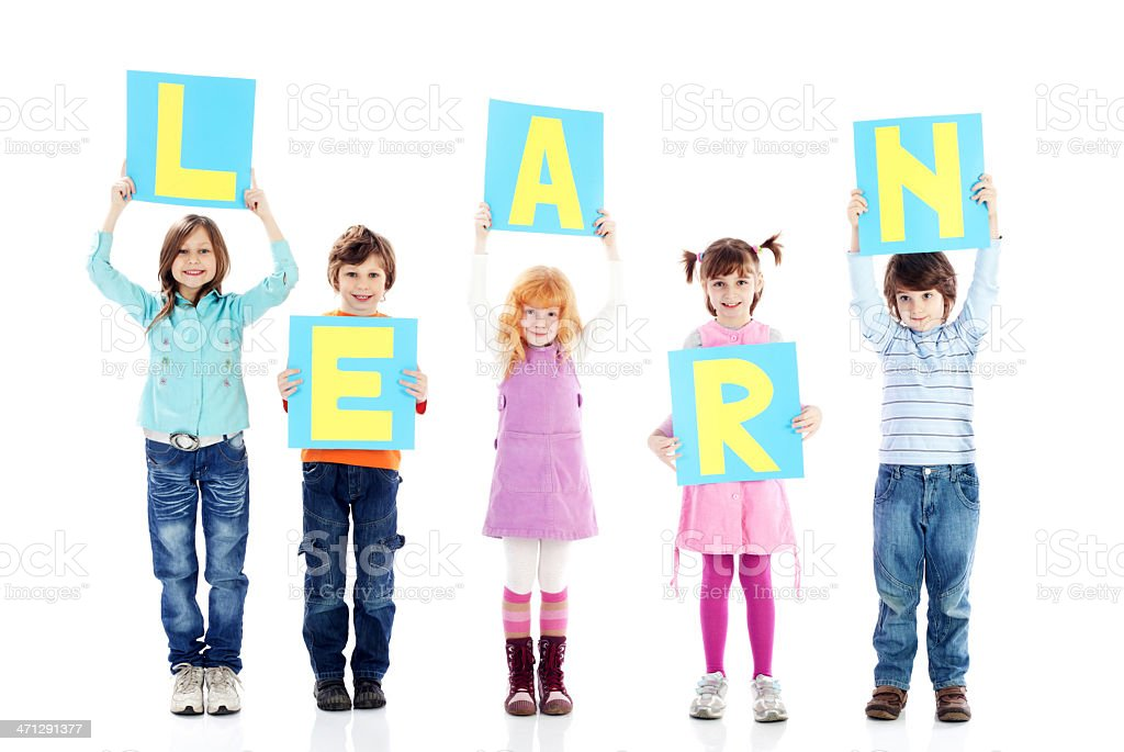 Children vote for education. royalty-free stock photo