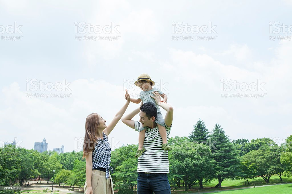 Children who are mother and high touch stock photo